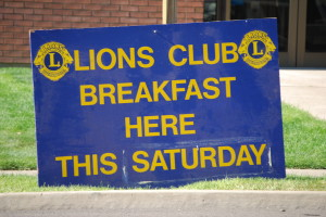 Lions Club Breakfast @ Zions Bank Parking Lot
