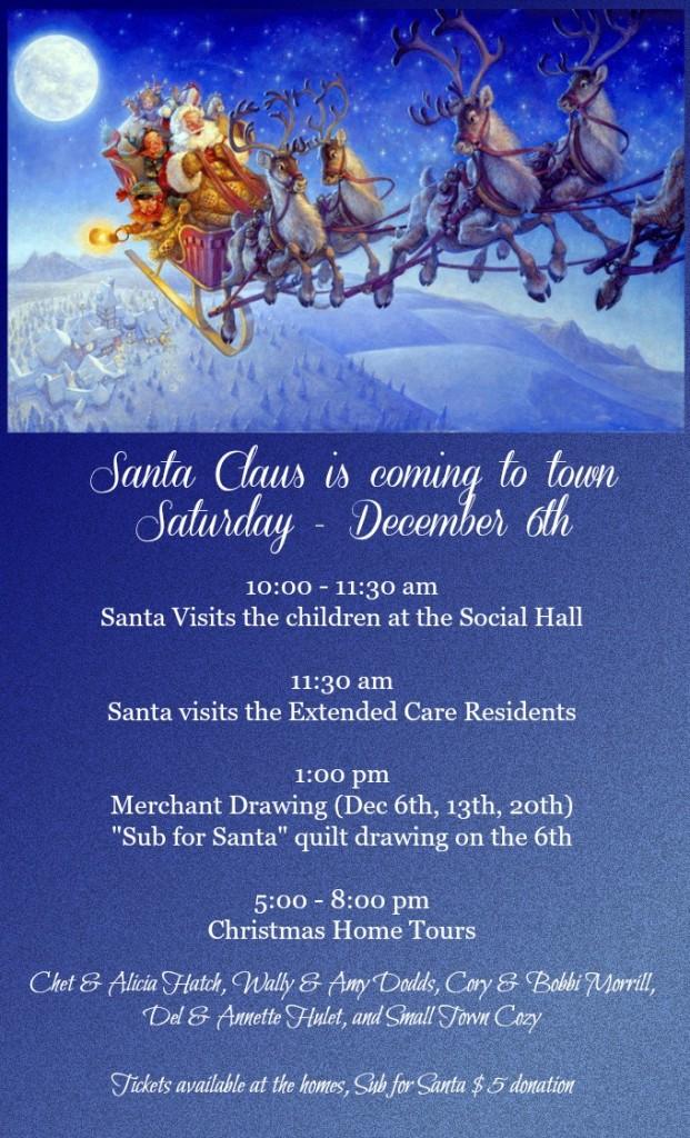 Christmas Home Tours and Santa's Visit @ Panguitch Social Hall