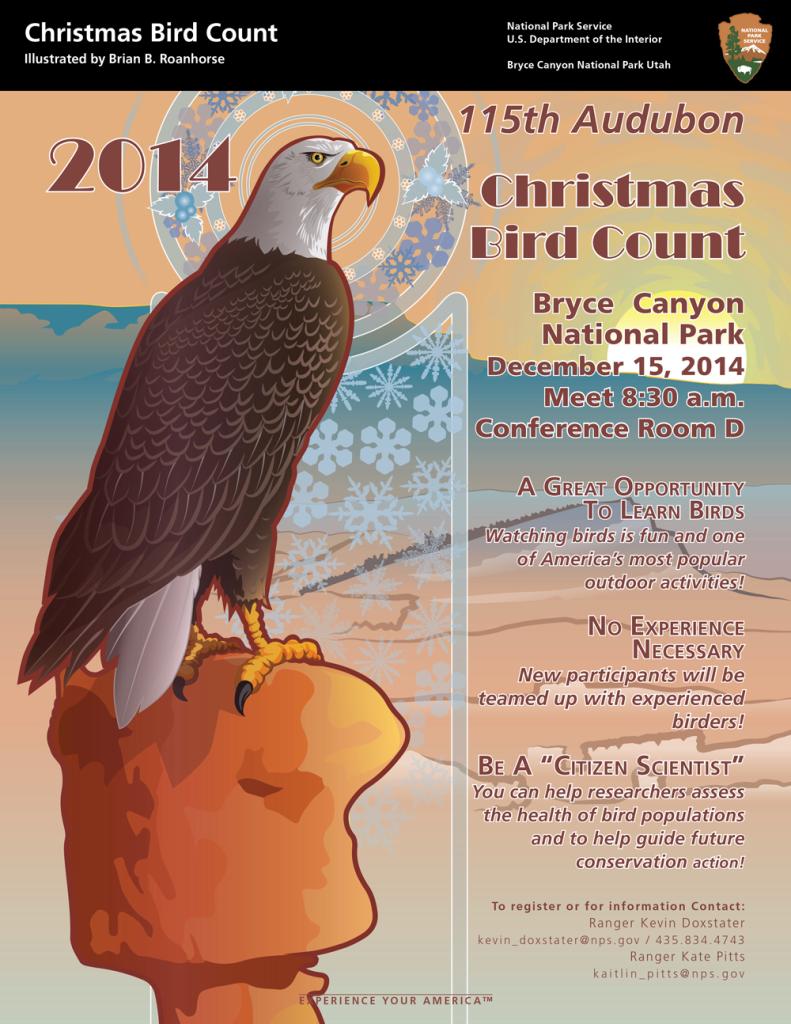 Christmas Bird Count - Bryce Canyon National Park @ Conference Room D, Bryce Canyon National Park