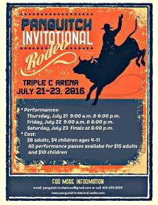 2016 Panguitch Invitational High School Rodeo @ Triple C Arena
