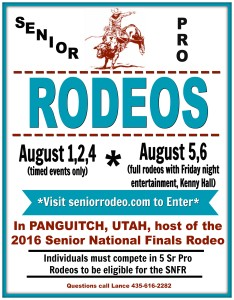Panguitch National Sr Pro Rodeo Timed Events @ Triple C Arena | Panguitch | Utah | United States