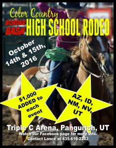 Color Country Border Bash High School Rodeo @ Triple C Arena, Panguitch, UT
