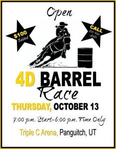 Open 4D Barrel Race @ Triple C Arena