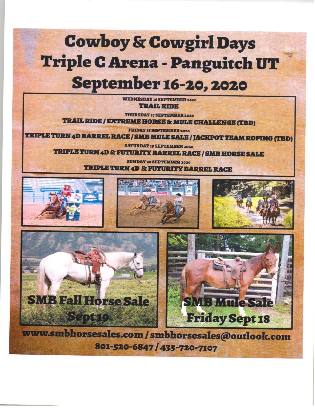 Cowboy and Cowgirl Days @ Triple C Arena