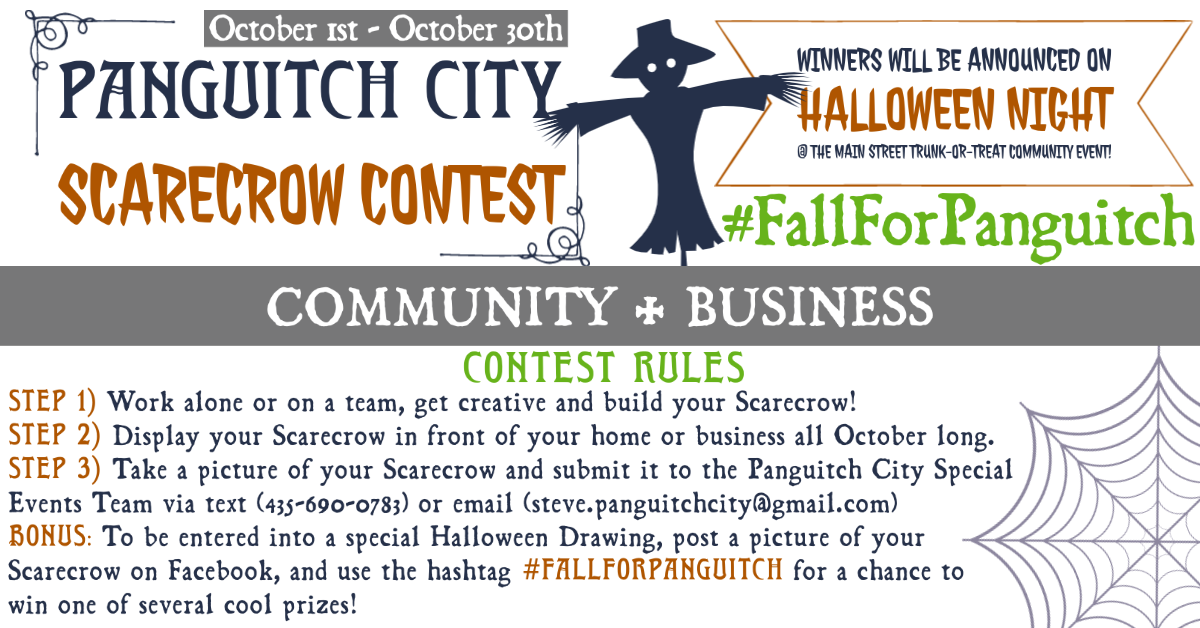 Scarecrow Contest @ Various Panguitch Businesses and Residences
