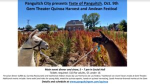 Taste of Panguitch: Gem Theater Quinoa Harvest @ Panguitch City Social Hall